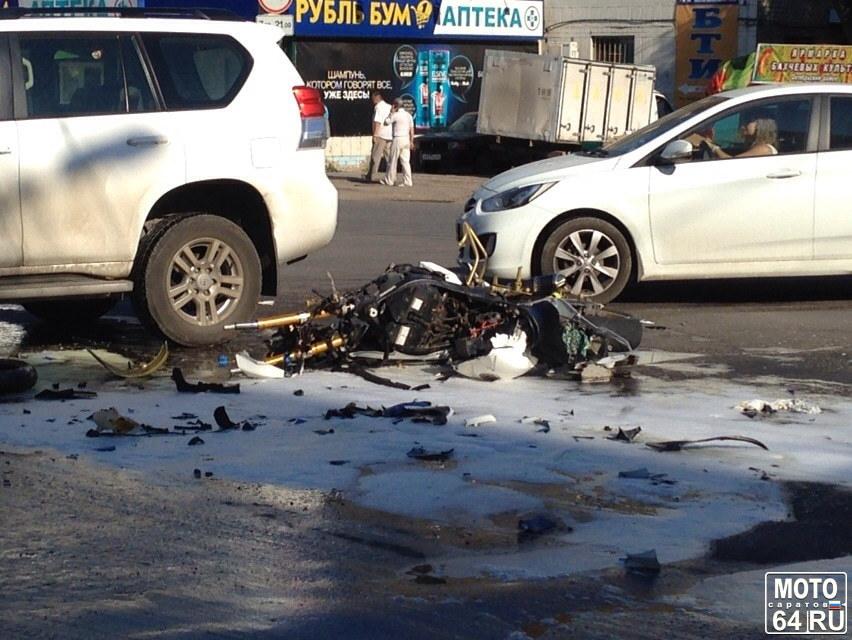В Саратовской области разбился мотоциклист