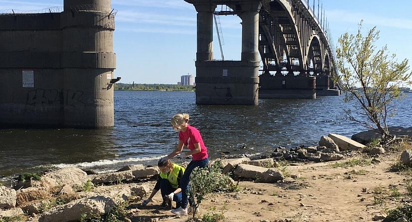 Саратовцы в масках и перчатках очистили от мусора 55 км берега