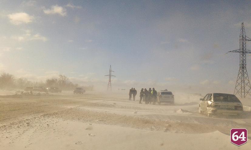 На Саратовскую область надвигаются снегопады и метели
