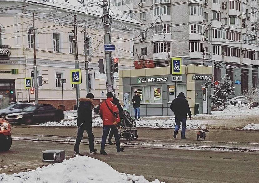 Жители Саратова «выгуливали» по улицам микроволновку